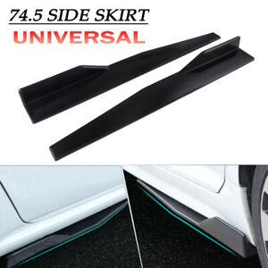 2X Universal Car Side Skirt Rocker Splitters Winglet Wings Canard Diffuser Black