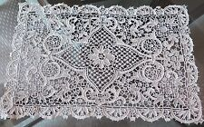 Vtg Antique Handmade Needle Lace Place Mat Point de Venise or Zele Very Fine