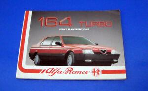 Alfa Romeo 164 Turbo Manuale Libretto Uso e Manutenzione 1988 Originale