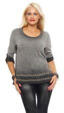 Langarm Damenblusen, - tops & -shirts aus Baumwolle mit 36 Größe