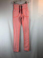 LULULEMON Wunder Under Heathered Neon SLUB DENIM skinny leggings pants Size 2