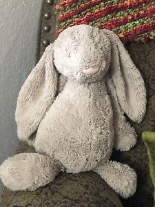 "Jellycat London 16"" Beige Bashful Bunny Rabbit Floppy Ears Plush Stuffed Animal"