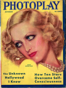 PHOTOPLAY • Oct 1931 • Joan Crawford cover by Earl Christy • Damaged Cover