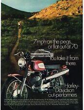 1970 Harley-Davidson 125cc Rapido Red Motorcycle Vtg Print Ad