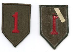 """1st Infantry Division embroidered patch US Army """"The Big Red 1"""""""