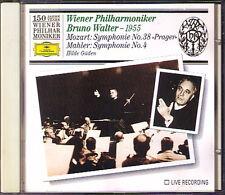 Bruno Walter: MAHLER SYMPHONY NO. 4 Mozart 38 Prague WPO 150 CD Hilde Güden