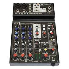 Peavey PV 6bt Pro 6 CH Mixing Desk Mixer Bluetooth FX PV6BT USB Software