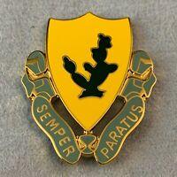 🌟US Army 12th Cavalry Regiment Unit Crest, DUI, Pin Badge Semper Paratus