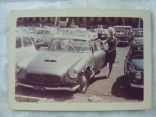 Vintage Car Photo Pretty Girl w/ 1962 Mazerati 3500 GTI Automobile 778