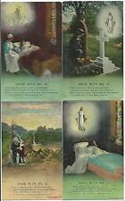 "BAMFORTH - ""ABIDE WITH ME"" - Set of 4 Song Card Postcards 4515/1-4"
