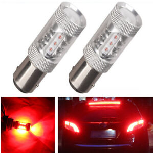 Pair of Pure Red 1157 80W High Power 3030 LED Light Bulbs BAY15D 1154 2057 1034