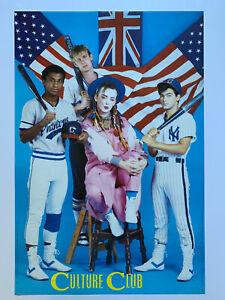 "Original 1984 Culture Club Poster 24"" x 36"" 1980's New Wave Boy George Fan Club"
