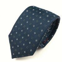 CHARLES TYRWHITT Tie Jermyn Street London Dark Aegean Blue Silk Skinny Necktie