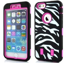 NEW For iPhone 6 (4.7) DROP DEFENDER PINK ZEBRA HYBRID IMPACT CASE COVER Es/54