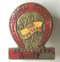 1949 Leicester speedway The Hunters Supporters club Enamel Lapel Badge AF