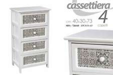 MOBILE COMODINO CASSETTIERA IN LEGNO 4 CASSETTI  40*30*73 CM SDA-726163