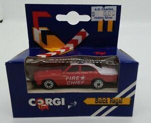 "Corgi Buick Regal ""Fire Chief"" No. J8½ Made in China in 1988 1:64 mint in box"