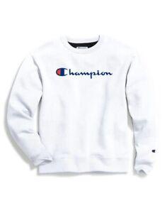 Champion Powerblend Men's Crew Script Logo Sweatshirt GF88H Y06794