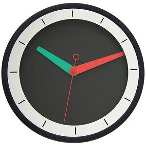 New 30 cm Black Modern Wall Clock Steel Miror Designer Home Decor Silent Quartz