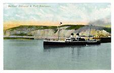 c.1915 Harbour Entrance & Fort Newhaven U.K. Steamship Postcard
