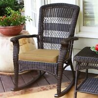 Tortuga Portside Plantation Rocking Chair Outdoor Chairs in Dark Roast