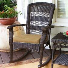 Tortuga Portside Plantation Rocking Chair Outdoor Chairs in Dark Roast