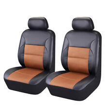 Universal Two Front Car Seat Covers PU Leather Breathable High Elasticity
