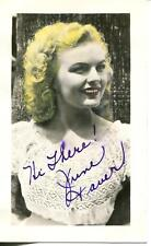 JUNE HAVER LUCILLE BALL / DESI ARNAZ COMEDY HOUR ACTRESS SIGNED PHOTO AUTOGRAPH