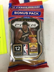 2020-21 Panini Prizm NBA Basketball Cello Pack 15 Cards Factory Sealed!