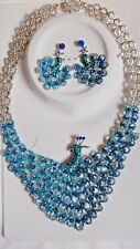 JEWELLERY SET PEACOCK  NECKLACE AND EARRINGS   (CONJUNTO COLLAR y PENDIENTES )
