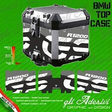 Set Completo 3 Adesivi Stickers TOP CASE BMW  bauletto bags R 1200 gs Rallye BK