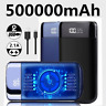 External 500000mAh Charger Power Bank Portable Battery for Mobile Phone LCD USB