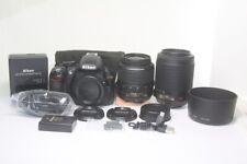 Nikon D D3100 14.2MP Digital SLR Camera Kit 18-55mm VR 55-200mm Zoom Lens