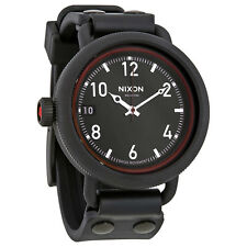 Nixon October Black Dial Mens Rubber Watch A488760