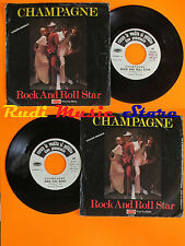 LP 45 7'' CHAMPAGNE Rock and roll star Kiss you baby 1977 PROMO italy cd mc dvd