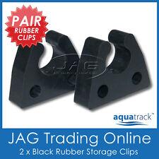 2 x RUBBER STORAGE CLIPS - Gaff/Net/Boat Hook/Paddle/Oar/Stern Anchor Light/Tube