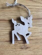 Wooden Fawn Christmas Decoration - Bambi - Deer - Tree