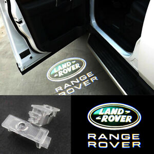 2X LED Logo door step courtesy laser projector lights For Land Rover Range Rover