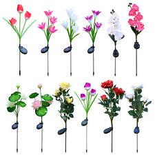 5 LED Solar Power Flower Light Lily Rose Yard Multi-Color LED Lamp Light Decor