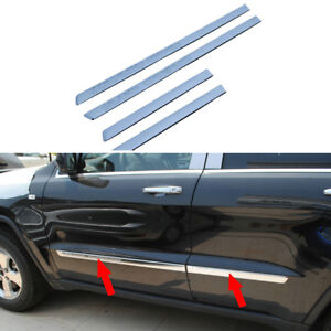 Fits JEEP Grand Cherokee 2011-2013 Chrome Body Side Door Molding Cover Trim 4pcs