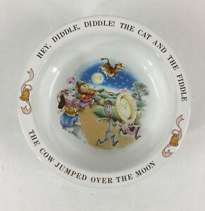 Vintage Avon Hey Diddle Diddle 1984 Baby's Keepsake Bowl Ceramic Nursery Rhyme
