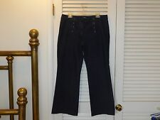 ANN TAYLOR LOFT Modern Trouser Jeans Sailor Style 12 Darker Blue Stretch  C