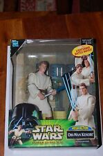 "Obi Wan Kenobi Mega Action-Star Wars Power of the Jedi-Brand New Sealed 6"" TPM"