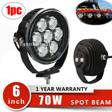 6Inch 70W Round LED Work Light Spot Offroad Driving Truck 4WD SUV Fog Head Lamp