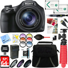 Sony DSC-HX400V/B 50x Optical Zoom Digital Camera + 64GB Ultimate Accessory Kit