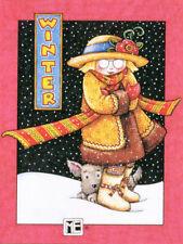 Winter Ann Estelle Henry-Handcrafted Christmas Magnet-W/Mary Engelbreit art