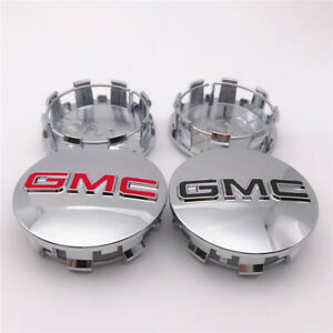 4PCS 83mm Wheel CENTER CAP 2001-06 2014-2019 For GMC Sierra 1500 2500 Yukon XL