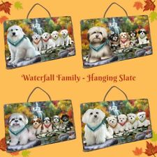 Scenic Waterfall Hanging Slate, Dogs, Cats, Pet Photo Lovers Gift Wall art