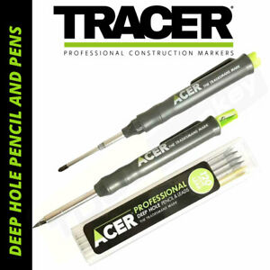 TRACER Deep Hole Marker Pencil or Pen  - Full Kits / Refill Leads