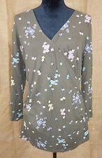 Boden women size 14 shirt tunic cross body gray
